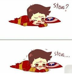 Image about steve rogers in Disney and Marvel by ♡Asia Nicole♡ Stony Avengers, Baby Avengers, Marvel Avengers, Marvel Funny, Marvel Memes, Marvel Dc Comics, Chibi Marvel, Steve And Tony, Bucky And Steve