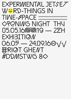 Experimental Jetset exhibition