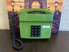 Rare Vintage green wall phone, Rere phone, Collectible telephone, Green phone, Wall phone Vintage Phones, Vintage Telephone, Real Phone, Home Phone, Vintage Green, Landline Phone, Retro, Wall, Collection