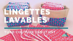 Tuto couture : coudre des lingettes lavables et panier assorti - YouTube Iris Folding, Couture Sewing, Videos, Make It Yourself, Crafts, Meringue, Makeup Remover Wipes, Towels, Dressmaking
