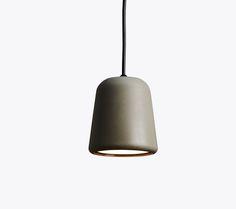 Material Pendant, Dark Grey Concrete, Design by Nørgaard & Kechayas http://www.newworks.dk/