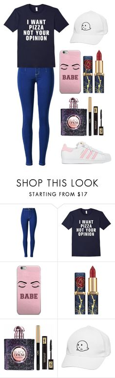"""""""2"""" by biebersqueen15 ❤ liked on Polyvore featuring Yves Saint Laurent and adidas"""