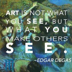 #EdgarDegas #BlueDancers #OldMasters #Quotes #OldMasters.ie Art Qoutes, Edgar Degas, Powerful Quotes, Helpful Tips, Dublin, Videos, Masters, Studios, Dancer