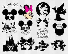 Mickey and Minnie SVG Bundle, Mickey clipart, Minnie cut files, svg files for silhouette, files for cricut, svg, dxf, eps, cuttable design