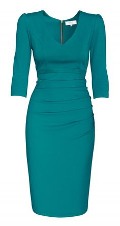 AMCO fashion Leylea Dress Petrol Classy Work Outfits, Classy Dress, Look Fashion, Fashion Outfits, Lawyer Fashion, Mother Of Bride Outfits, Casual Dresses, Dresses For Work, Mode Shop