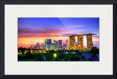 """""""Cityscape Singapore"""" by 17 Victory & Co, Singapore // Cityscape Singapore...About City Singapore - The Story ...Raffles arrived in Singapore on 28 January 1819 and soon recognized the island as a natural choice for the new port. It lay at the southern tip of the Malay peninsula, near the Straits of Malacca, and possessed a natu... // Imagekind.com -- Buy stunning fine art prints, framed prints and canvas prints directly from independent working artists and photographers."""