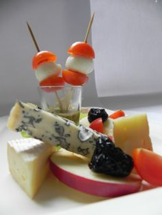 Selection of cheeses with walnut pesto (paladin blue, brie, camembert, mozzarela, parmesan, walnaut, olive oil)