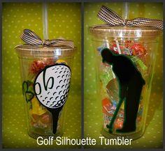 "Acrylic Tumbler-""Golf Silhouette"""