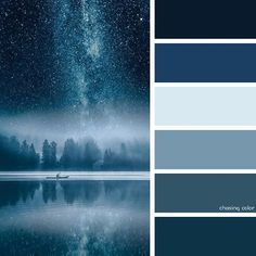 night blue palette - for love interest Colour Pallette, Color Palate, Colour Schemes, Blue Palette, Room Colors, House Colors, Paint Colors, Colours, Blue Shades Colors