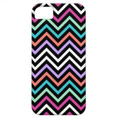 Colorful Modern Chevron iPhone 5 Cases #iphonecase #chevron #colorful #iphone