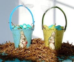 Last-Minute Craft: Easter Basket Peat Pots