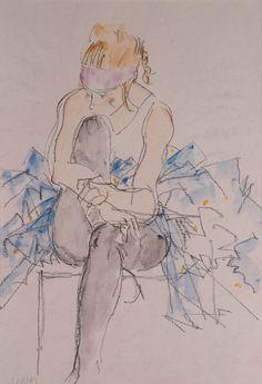 Donald Hamilton Fraser | Dancer with pink headband