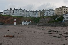 Row of buildings near the shore in Isle of Man