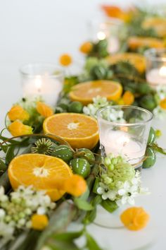 Fruits and flowers wedding centerpieces can be the bright accent in the wedding decor and will add freshness and originality to the festive table setting. Wedding Table Decorations, Table Centerpieces, Wedding Centerpieces, Wedding Decor, Orange Centerpieces, Graduation Centerpiece, Quinceanera Centerpieces, Centrepieces, Centerpiece Ideas
