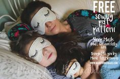sleep mask pdf sewing pattern for adults, children and doll! 3 sizes, easy and quick gift.FREE sleep mask pdf sewing pattern for adults, children and doll! 3 sizes, easy and quick gift. Kids Eye Mask, Kids Sleep Mask, Mask For Kids, Eye Masks, Sewing Patterns Free, Free Sewing, Sewing Tutorials, Free Pattern, Pattern Sewing
