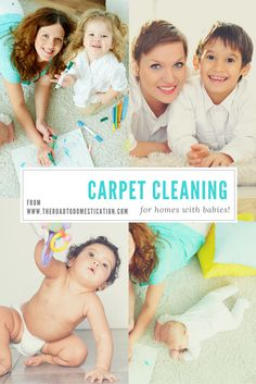 All you need to know about safely cleaning your carpets when you have littles at home!