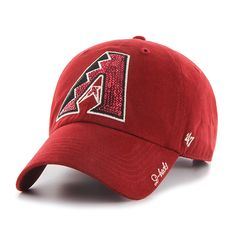 0a48a3c6116 Arizona Diamondbacks Sparkle Team Color Clean Up Razor Red 47 Brand Womens  Hat