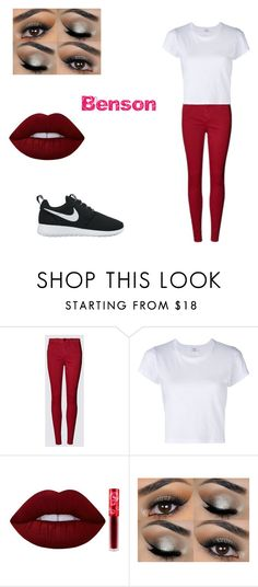 """Benson 11"" by shadow-killer-101 on Polyvore featuring RE/DONE, Lime Crime and NIKE"