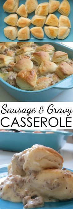 This sausage and gravy casserole recipe is a crowd-pleasing favorite. It's a breakfast casserole your family and friends will love. (Cheese Grits Velveeta)
