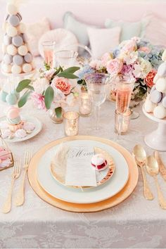 Inspired by the Queen of opulence herself, this Marie Antoinette inspiration is an absolute delight. Wedding Themes, Wedding Styles, Wedding Decorations, Wedding Ideas, Wedding Pictures, Wedding Details, Beautiful Table Settings, Wedding Table Settings, Marie Antoinette
