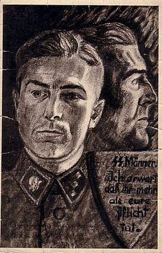 Waffen SS postcard