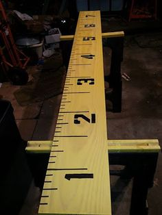 crab+fish: DIY:giant ruler growth chart!  I live this as a decoration for Workshop of Wonders VBS! #firstpresorangeburgvbs