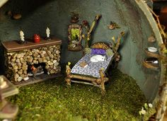 Fairy House Furniture | Fairy House Detail | Flickr - Photo Sharing!