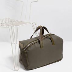 ZARA的图片 2 名称斜角拉鍊保齡球包 Zara, Gym Bag, Tote Bag, Duffle Bags, Carry Bag, Tote Bags