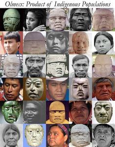 The first Mexicans were Olmec. Their culture flourished from around 1200 B.C. and lasted to about 200 A.D. These folks were native to America & were in no way linked to any other group (outside of the six founder haplogroups) until after Columbus' arrival and conquest.