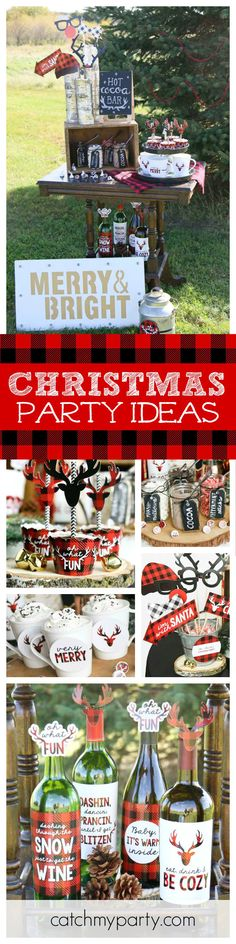 Ho! Ho! Ho! Santa's coming! Check out this great Prancing Plaid Hot Cocoa Bar. The printables are awesome! See more party ideas and share yours at CatchMyParty.com