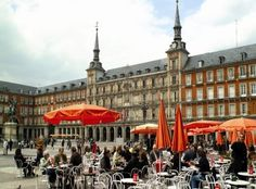 This is Plaza Mayor in Madrid.  So much excitement in this plaza!