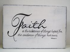 Wood Sign/Faith Sign/Sign/Inspirational Sign/ by CountrySettings