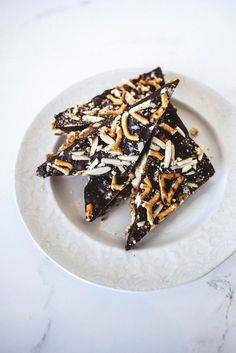 Sweet, Salty, Nutty Chocolate Bark is a delicious treat that also makes for the most perfect gift!