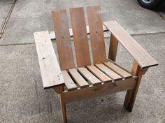easy to make cedar adirondack chair
