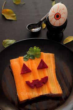 jack o lantern sandwich by Smita @ Little Food Junction, via Flickr