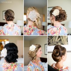 Bridal Hair by Something Blue Stylists / LinneaLiz Photography / www.LinneaLiz.com