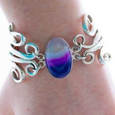 Vintage Spoon Bracelet Lace Agate Bracelet Fork by mcfmiller