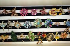 grandmother's enormous pin collection.