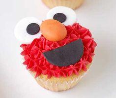 elmo cupcakes ideas