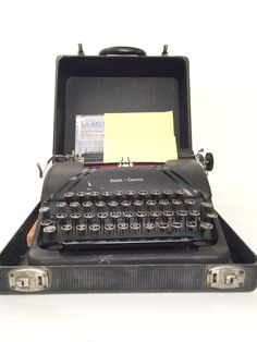 A personal favorite from my Etsy shop https://www.etsy.com/listing/260062470/smith-corona-sterling-typewriter-with