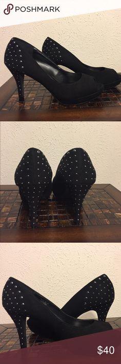 NWOB Studded platform black suede Naturalizer pump Beautifully studded 2.5 inch heel platform. New without box Naturalizer Shoes Heels