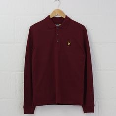 Lyle and Scott L/S Plain Polo Shirt (Claret Jug) #lyleandscott #polo #lyle #british #menswear