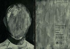 OUTDOOR - BRONZE WHITE FACE / GREY FACE / BLACK FACE  J. WALTER THOMPSON ALCOHOLICS ANONYMOUS