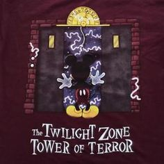 NWT-The-Twilight-Zone-Tower-of-Terror-Mickey-Mouse-Large-Shirt-by-Disney-Parks