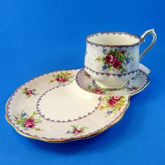 Royal Albert Petit Point Tea Cup & Saucer Tennis Snack Set | Pottery & Glass, Pottery & China, China & Dinnerware | eBay!