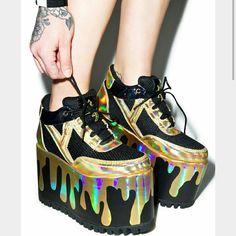 ISO YRU Platform Qozmos In search of yru shoes!! Looking for these, or just solid black :) looking to buy them using just my credits so i'm hoping that i can find some that are reasonably priced. New ones would be ideal but I don't mind if they're pre-loved :) size 7 please. Tag me if you've seen these or if you have a pair that you'd like to sell id love to bundle more than one :)!!! Tag sneakers booties dollskill flatform unicorn rainbow slime holographic flames YRU Shoes