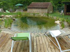 Natural pool pond white liner piscine naturelle étang