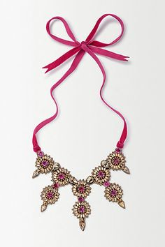 Fuchsia Beams Necklace #anthropologie