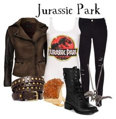 Jurassic Park by capamericagirl21 on Polyvore featuring Rock'N Blue, Frame Denim, Sam Edelman, Dara Ettinger and ASOS