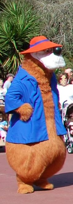 Brer Bear, from Song of the South and Splash Mountain, in the Frontierland area of the Magic Kingdom park at Walt Disney World Resort.